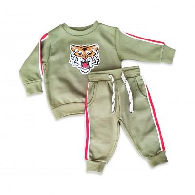 Minoti Комплект зелен с тигър