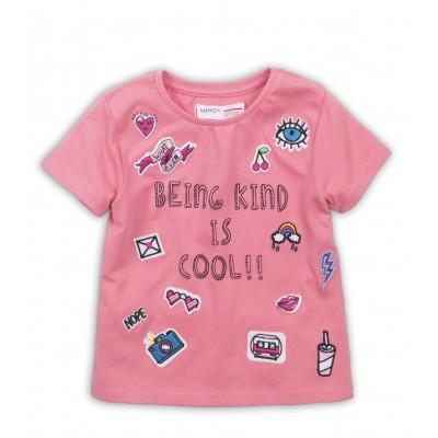 Minoti Розова блузка с апликации