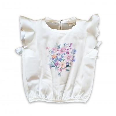 Контраст Блуза с цветя
