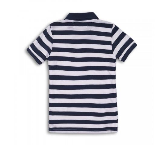 Minoti Тениска с якичка на райе синя