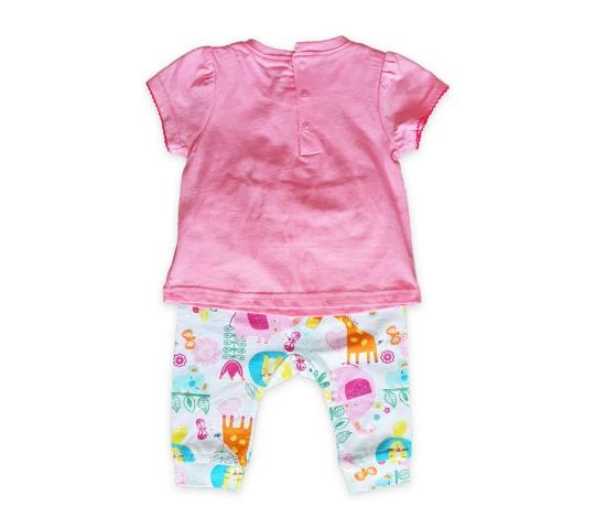 Бебешки комплект с блузка и панталонки за момиче
