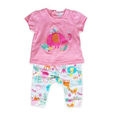 Minoti Комплект с розова тениска и панталонки
