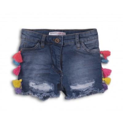 Minoti Къси дънкови панталони с понпони