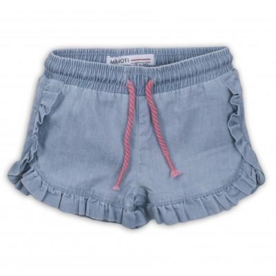 Minoti Къси дънкови панталонки с къдрички