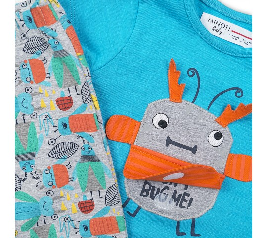 Бебешки комплект с тениска и панталонки с апликация