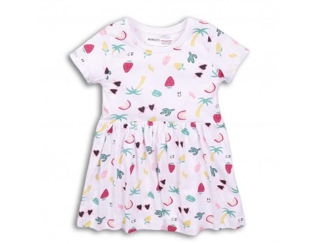 Детска кокетна рокличка с къси ръкави