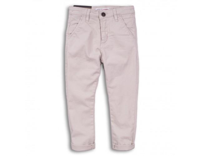 Спортен дълъг панталон за момче в цвят крем