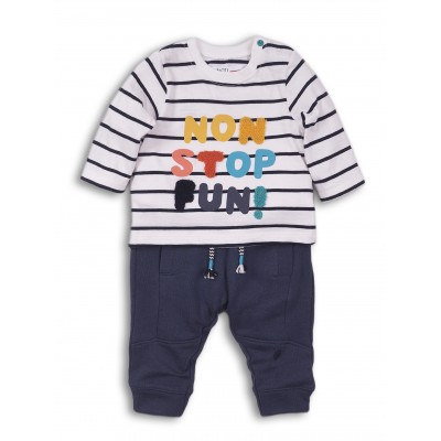 Minoti Комплект за момче с цветен надпис
