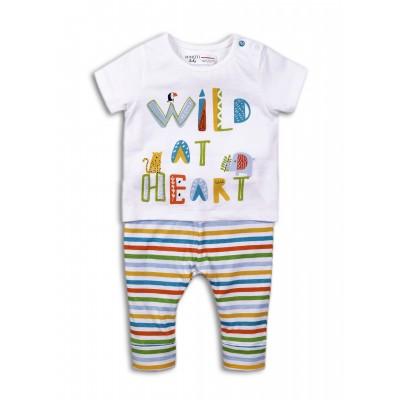 Minoti Комплект с тениска и шарени панталонки