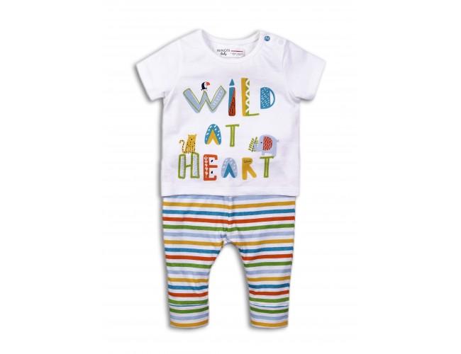 Бебешки комплект с тениска и панталонки bright6