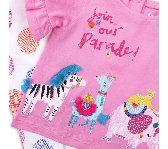 Комплект с туника и панталонки за момиче Parade
