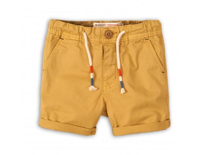 Къси панталонки за момче цвят горчица