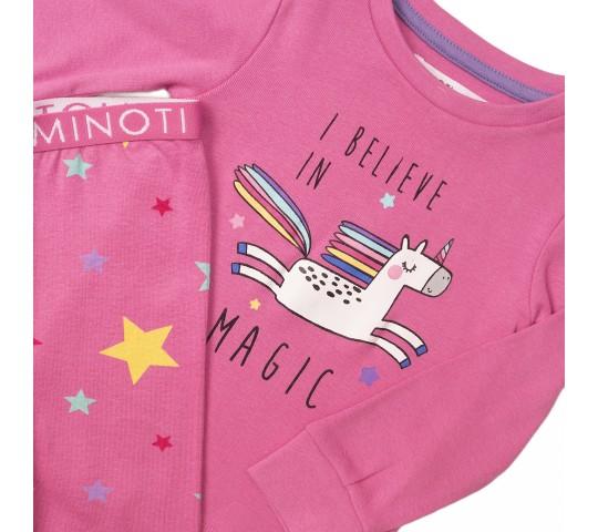 Пижама за момиче розова с картинка
