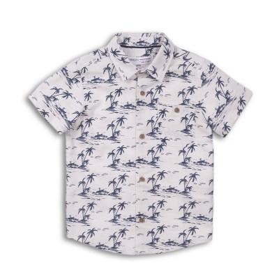 Minoti Ленена риза с къс ръкав с палми