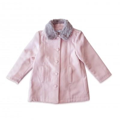 Minoti Розово палто с пухена яка