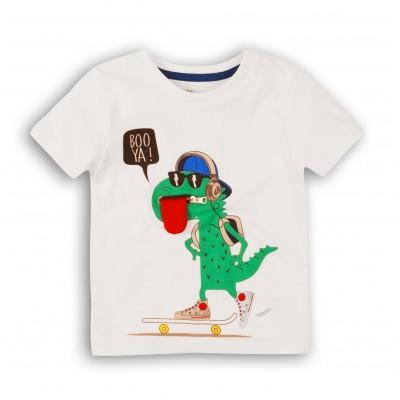 Minoti Тениска за момче бяла с Дино