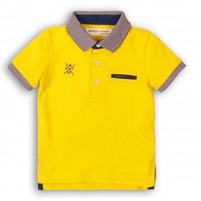 Minoti Жълта тениска със синя яка