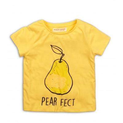 Minoti Жълта блузка с къси ръкави с круша