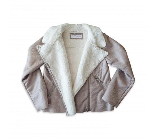 Миноти Пухено късо яке за момиче