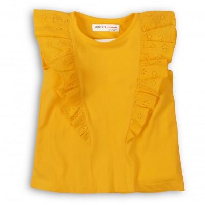 Minoti Жълта блузка с без ръкави с дантела