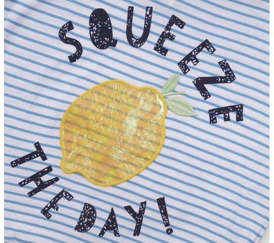 Minoti Блузка с къси ръкави с лимон