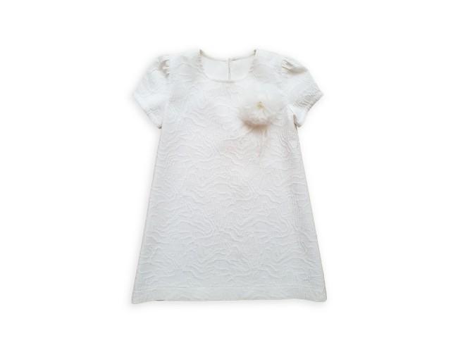 Официална бяла рокличка с панделка