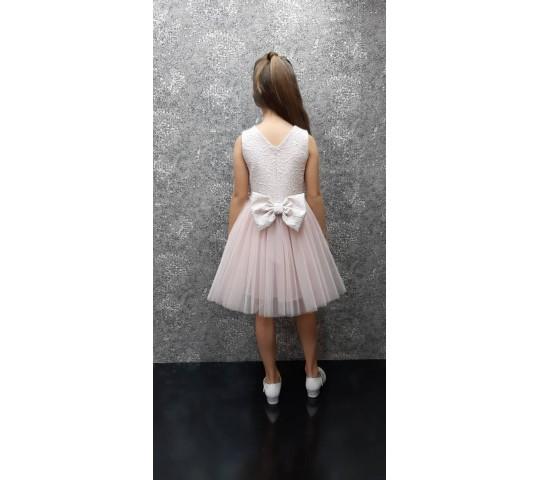 Официална рокличка с панделка и тюл