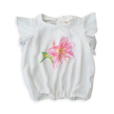 Контраст Блуза с цвете