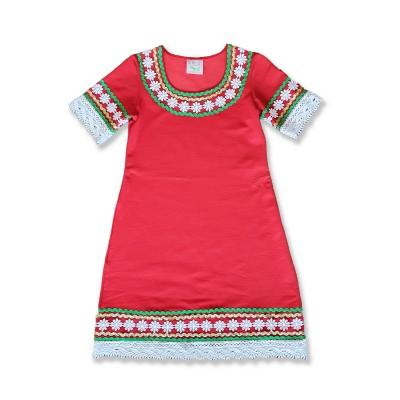 Детска народна носия рокля с къс ръкав