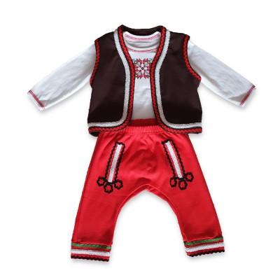 Бебешка народна носия за момче р.80 см