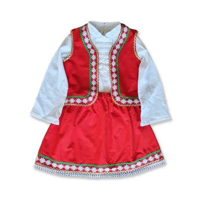 Детска народна носия за момиче с риза