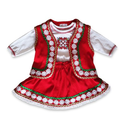 Бебешка народна носия за момиче с боди