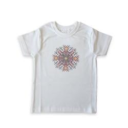 Детска тениска със шевица