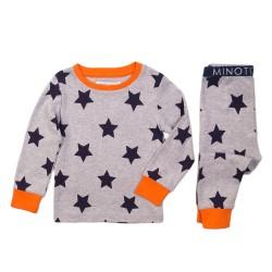 Minoti Пижамка сива със звезди
