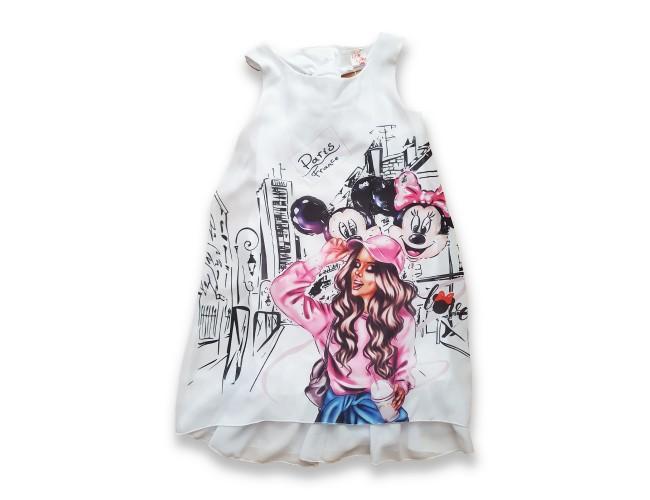 Официална рокличка Мини Маус с панделка