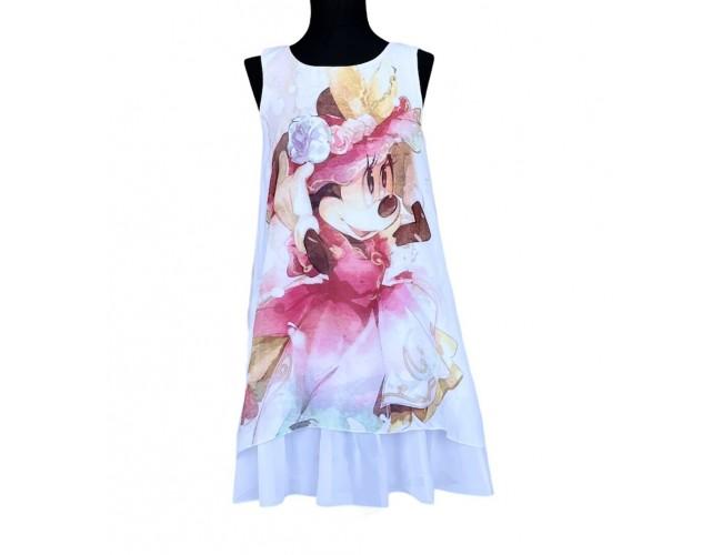 Официална лятна рокличка Мини Маус с панделка