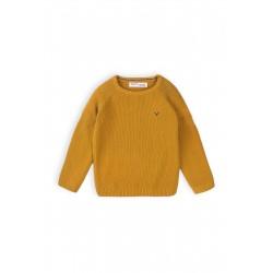 Minoti Памучен плетен пуловер за момче