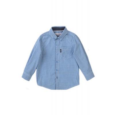 Minoti Детска риза с дълъг  ръкав каре